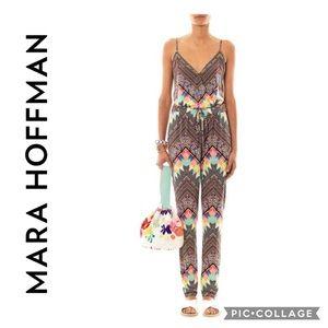 MARA HOFFMAN  Divine-print jersey jumpsuit  Size M